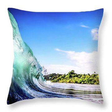 Throw Pillow featuring the photograph Tropical Wave by Nicklas Gustafsson