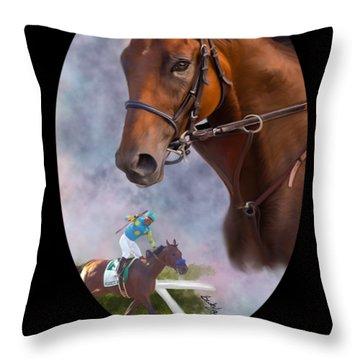 American Pharoah Framed Throw Pillow