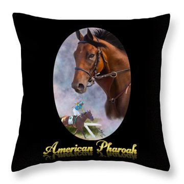 American Pharoah Framed Throw Pillow