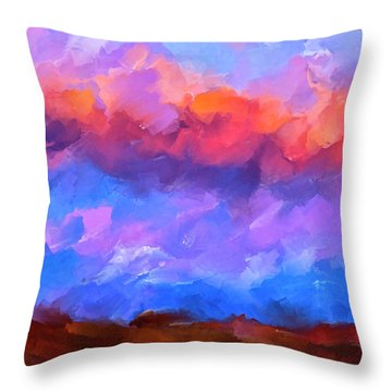 Throw Pillow featuring the mixed media Boundless Dreams by Mark Tisdale
