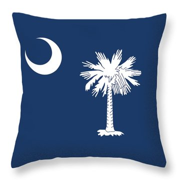 Flag Of South Carolina Authentic Version Throw Pillow