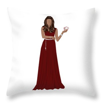 Throw Pillow featuring the digital art Hoda by Nancy Levan