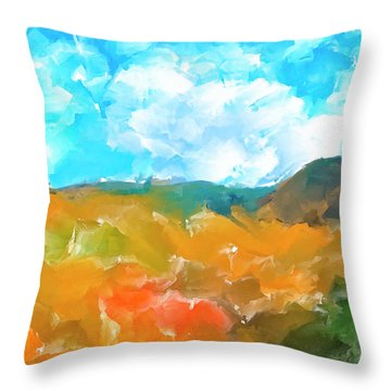 Throw Pillow featuring the mixed media In The Valleys by Mark Tisdale
