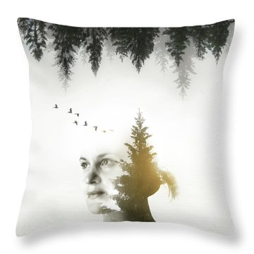 Throw Pillow featuring the photograph Soul Of Nature by Nicklas Gustafsson