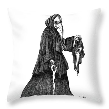 Plague Doctor Throw Pillow