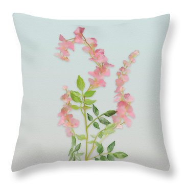 Pink Tiny Flowers Throw Pillow