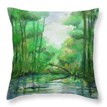 Lost In Colors  Throw Pillow by Ivana Westin