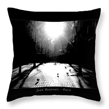 Jean Beauvais Paris Throw Pillow by Felipe Adan Lerma