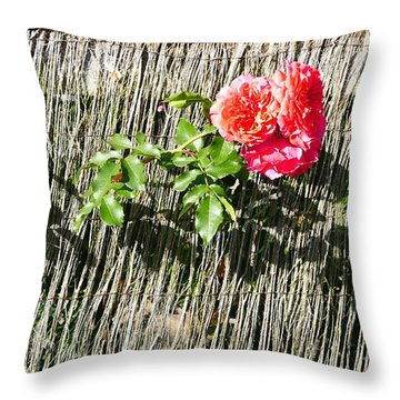 Floral Escape Throw Pillow