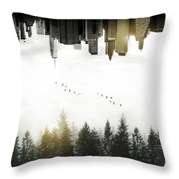 Duality Throw Pillow by Nicklas Gustafsson