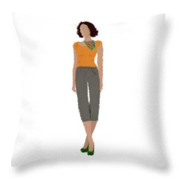 Throw Pillow featuring the digital art Susan by Nancy Levan