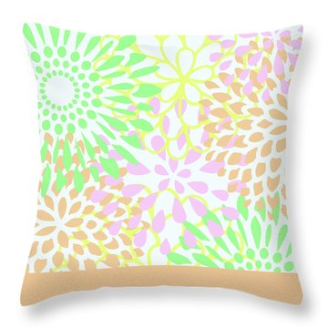 Pretty Pastels Throw Pillow by Inspired Arts