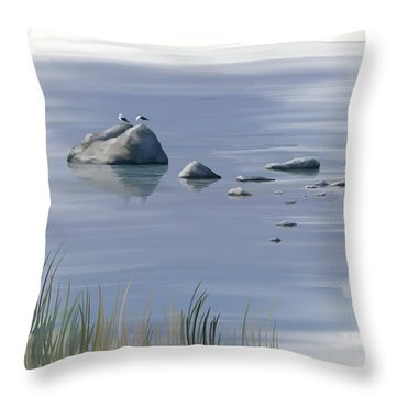 Gull Siesta Throw Pillow