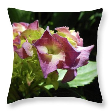 Hydrangea Flowers Fit For A Fairy Throw Pillow