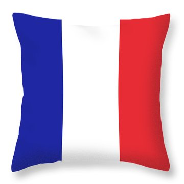 Flag Of France High Quality Authentic Image Throw Pillow