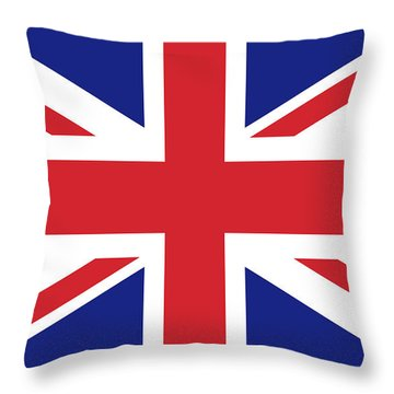 Union Jack Ensign Flag 1x2 Scale Throw Pillow by Bruce Stanfield