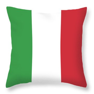 Throw Pillow featuring the digital art Flag Of Italy by Bruce Stanfield