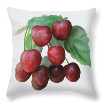 Sour Cherry Throw Pillow