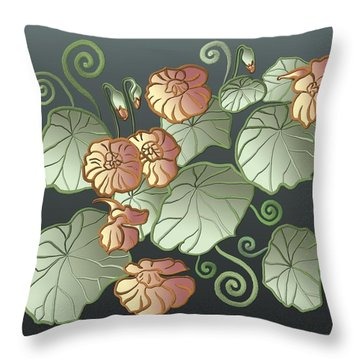 Art Nouveau Garden Throw Pillow