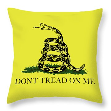 Gadsden Dont Tread On Me Flag Authentic Version Throw Pillow