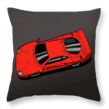 Ferrari F40 Red Throw Pillow