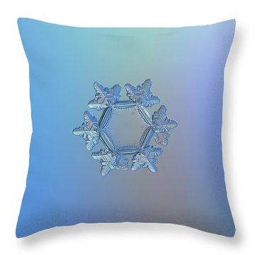 Snowflake Photo - Sunflower Throw Pillow
