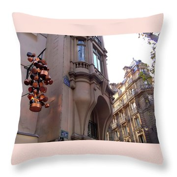 Angles And Details At Place Saint Andre Des Arts Throw Pillow