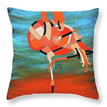 An Elegant Flamingo Throw Pillow