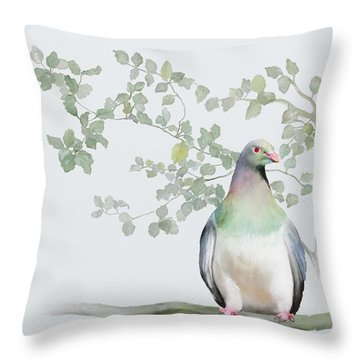 Wood Pigeon Throw Pillow
