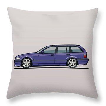 Bmw E36 328i 3-series Touring Wagon Techno Violet Throw Pillow