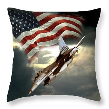 American Feedom  Throw Pillow by Regina Femrite