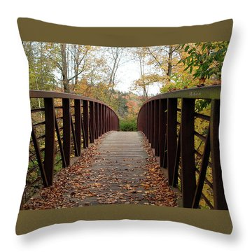 Thompson Park Bridge Stowe Vermont Throw Pillow by Felipe Adan Lerma