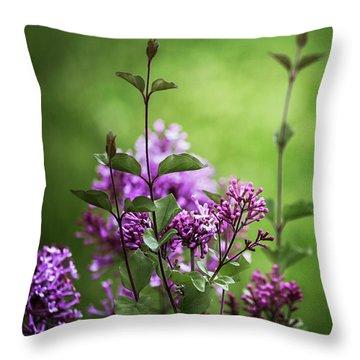 Lilac Memories Throw Pillow by Karen Casey-Smith