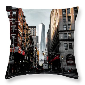 Lower Manhattan One Wtc Throw Pillow