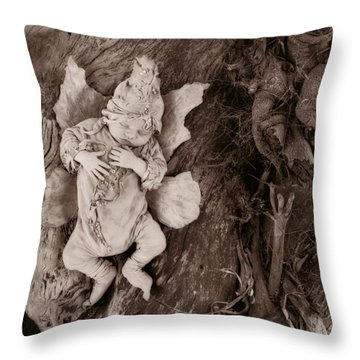 Driftwood Fairy Throw Pillow