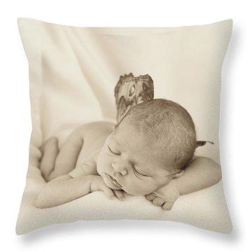 Aimee As A Fairy Throw Pillow by Anne Geddes
