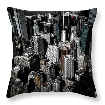 Boxes Of Manhattan Throw Pillow