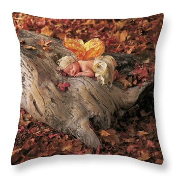 Woodland Fairy Throw Pillow