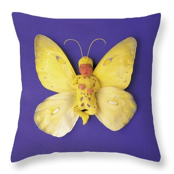 Fiona Butterfly Throw Pillow by Anne Geddes