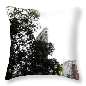 Flatiron Autumn  Throw Pillow