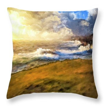 Throw Pillow featuring the mixed media In The Moment by Mark Tisdale