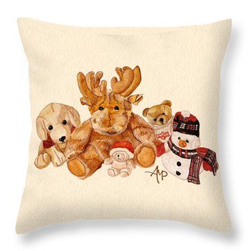 Snowy Patrol Throw Pillow