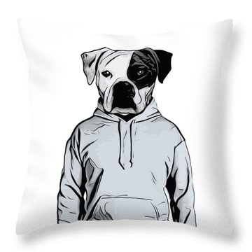 Throw Pillow featuring the painting Cool Dog by Nicklas Gustafsson