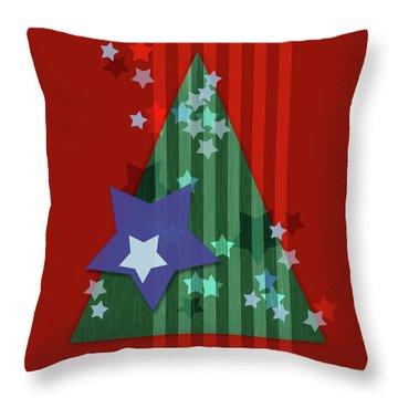 Stars And Stripes - Christmas Edition Throw Pillow