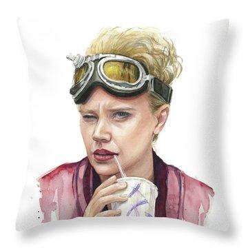Jillian Holtzmann Ghostbusters Portrait Throw Pillow