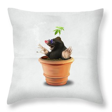 Pot Wordless Throw Pillow