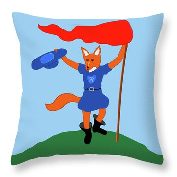 Reynard The Fairy Tale Fox Throw Pillow