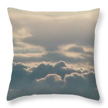 Monsoon Clouds Throw Pillow