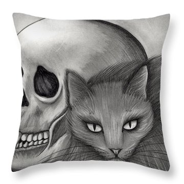 Witch's Cat Eyes Throw Pillow