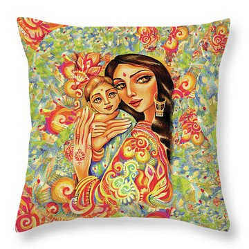 Goddess Blessing Throw Pillow by Eva Campbell